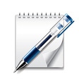 object pen notepad vector image