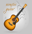 acoustic guitar musical instruments stock vector image