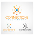 Connections Multimedia vector image