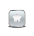 Home icon metal button vector image
