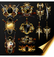 set of medieval heraldry vector image