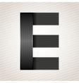Letter metal ribbon - E vector image vector image