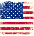 American flag on old paper vector image