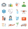 Paramedic Flat Colored Decorative Icons vector image