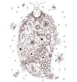 Zen Tangle girl upside down vector image vector image