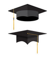 academic graduation cap student hat vector image