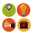 business round icons vector image