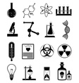Chemistry science icons set vector image