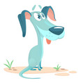 cute little dog cartoon vector image