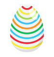 easter egg flat icon easter and holiday vector image