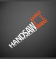 handsaw concept vector image