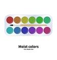 packaging watercolor paints vector image