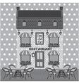 Restaurant facade vector image