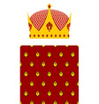 Set Crown and mantle Royal Crown Jewelry accessory vector image
