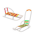 set of different kinds of winter sled vector image
