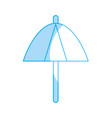 silhouette umbrella protection of the change vector image