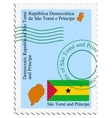 Mail to-from Sao Tome and Principe vector image
