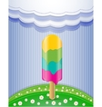 Nature with ice cream vector image vector image