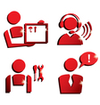 market service icons set vector image vector image