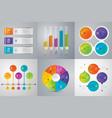 set of infographics design vector image