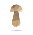 Mushroom abstract isolated on a white backgrounds vector image vector image