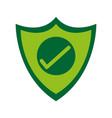 shield with check mark antivirus icon image vector image