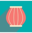 Modern flat icon with long shadow Indian basket vector image