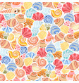 bright shell pattern vector image