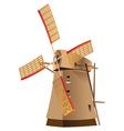 Classic windmill vector image