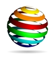 Colorful glossy spheres isolated vector image