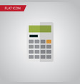 isolated calculator flat icon calculate vector image