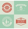 Set of logotypes elements labels badges vector image