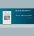 template with gas stove with oven for vector image