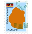 mail to-from Swaziland vector image vector image