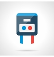 Modern flat icon for temperature regulator vector image