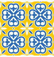 spanish tiles pattern moroccan and portuguese vector image vector image