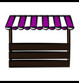 store with striped awning ico vector image