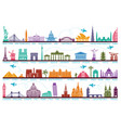 icons world tourist attractions the symbols vector image