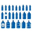 set of water bottle icons vector image vector image