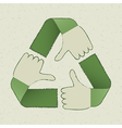 recycle hands symbol vector image