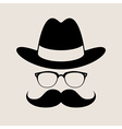 Hipster style element glasses Hat and mustaches vector image vector image