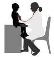 pediatrician silhouette vector image