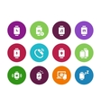 Smart watch with applications circle icons on vector image