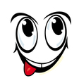 silly cartoon face vector image