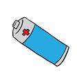 freehand drawn cartoon battery vector image