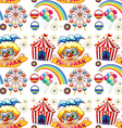 Seamless clowns and circus vector image