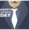 Happy Fathers Day Template greeting card vector image vector image