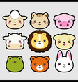 animal head icons vector image
