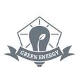 bulb eco energy logo simple gray style vector image