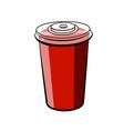 color sketch soda glass plastic vector image